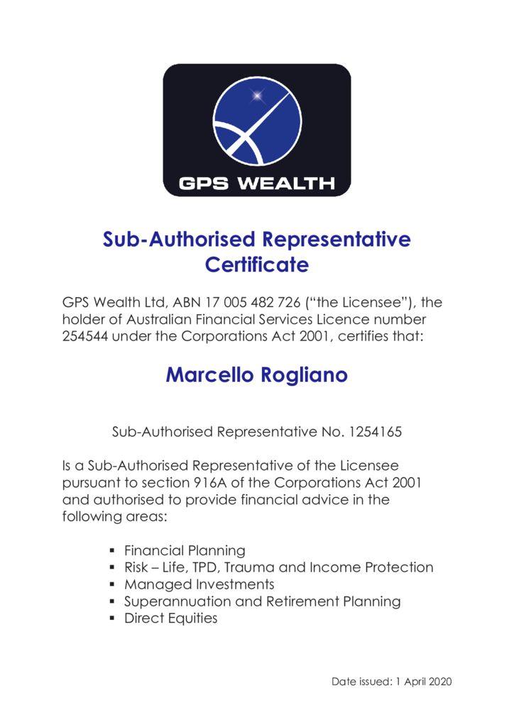thumbnail of Sub- AR Certificate MARCELLO ROGLIANO